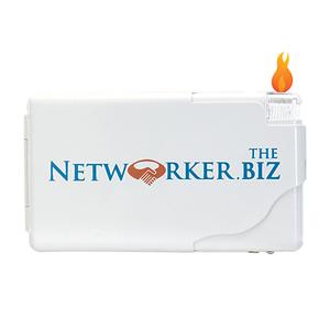 Cigarette Case Wallet W/Electronic Lighter