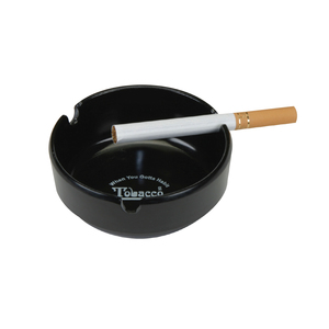 Durable Plastic Heatproof Ashtray W/3 Grooves