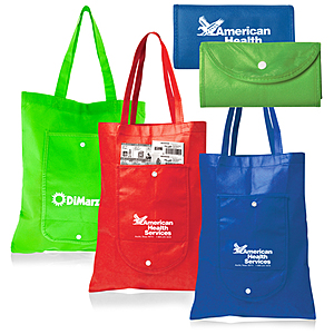 Fold Up Shopper Tote Bag / Pouch