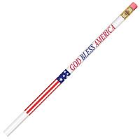 Patriotic Stars And Stripes Pencil