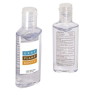 Hand Sanitizer In Oval Bottle   1 Oz.