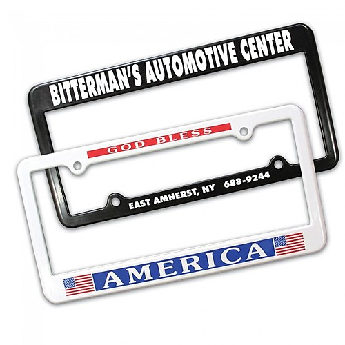 2 Holes License Plate Frame