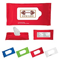 Sanitizer Wet Wipes In Re Sealable Pouch   10pc