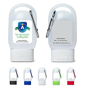 Hand Sanitizer In Carabiner Bottle   1 Oz.