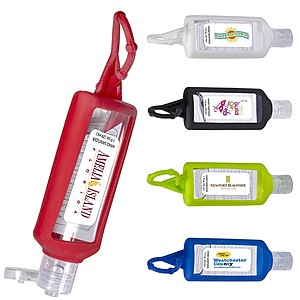 Hand Sanitizer With Silicone Holder   1 Oz.