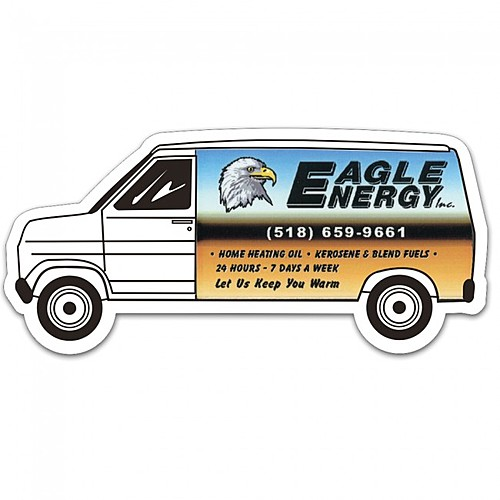 Full Color Digital Stock Shaped Magnets   Van