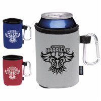 Koozie® Collapsible Can Kooler With Carabiner