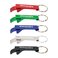 Anodized Aluminum Bottle Opener Keyring