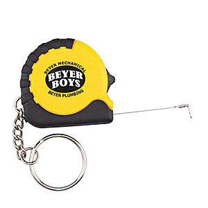 Tape Measure 3ft With Black Rubber And Keyring