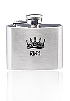 2 Oz. Brushed Finish Stainless Steel Flasks