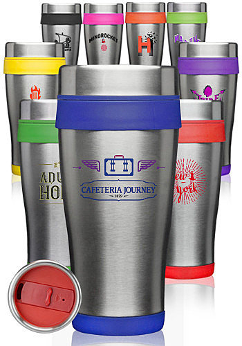 Photo of 16 Oz. Insulated Stainless Steel Travel Mugs