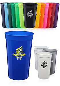 22 Oz. Plastic Stadium Cups