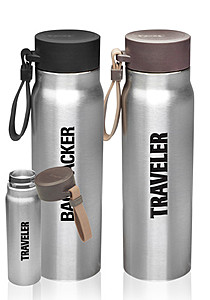 17 Oz. Vacuum Insulated Water Bottles With Carrying Strap