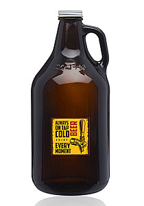 64 Oz. Amber Glass Beer Growlers