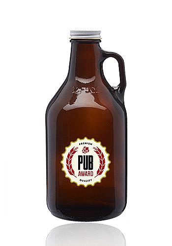 32 Oz. Amber Glass Beer Growlers