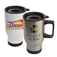 Stainless Steel 14oz Travel Mug   Full Color