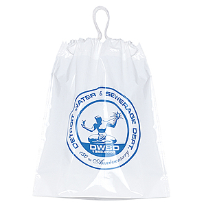 Plastic Cotton Draw Bag 12x16x 4