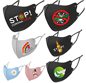 Sublimation Adjustable Cotton Face Mask