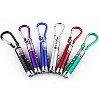 Led Keychain Flashlight / Uv Light Laser Pointer Torch