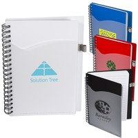 Polypro Notebook With Clear Front Pocket
