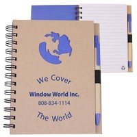 Eco Shapes™ Recycled Die Cut Notebook: Globe