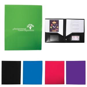 2 Pocket Folder With Business Card Slots