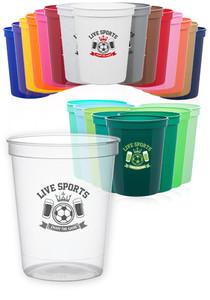 16 Oz. Reusable Plastic Stadium Cups