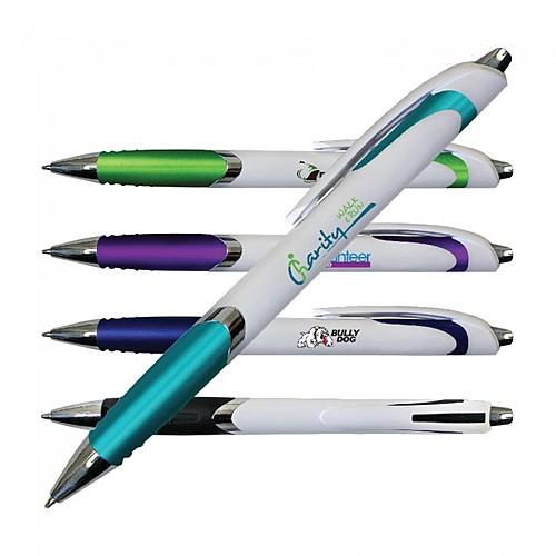 Photo of White Crest Grip Pen, Full Color Digital