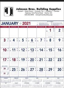 Patriotic Contractor Memo 13 Sheet Calendar