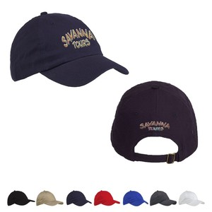 Big Accessories 6 Panel Brushed Twill Unstructured Cap
